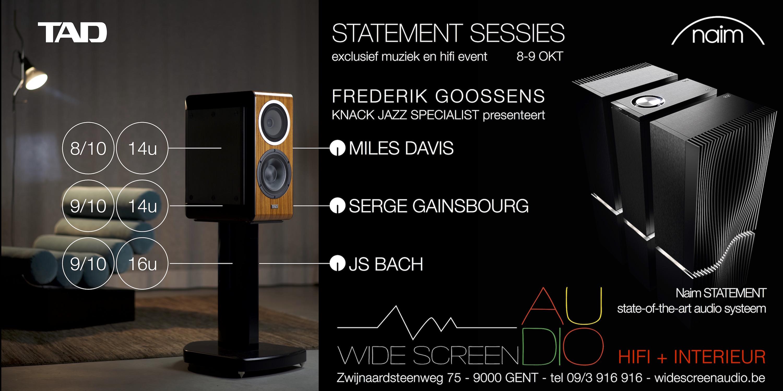 Naim Statement Gent Miles Davis Serge Gainsbourg Bach Frederik Goossens